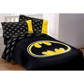 Batman Emblem 4 Piece Twin Reversible Comforter Set