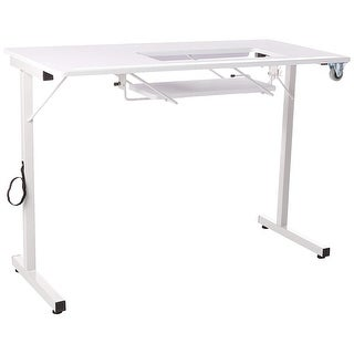 Sewingrite Foldable Sewing Craft Hobby Utility Table - White