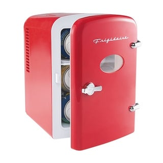 Frigidaire Portable Retro 6-can Mini Fridge EFMIS129, Red Refurbished