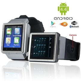 Indigi® 3G Smartwatch & Phone (Factory Unlocked) Android 4.4 KitKat + WiFi + Google Maps + Built-In Camera + Google Play Store