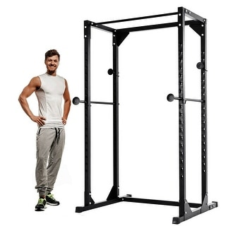 Costway Adjustable Dumbbell Rack Cage Chin up Squat Stand Fitness