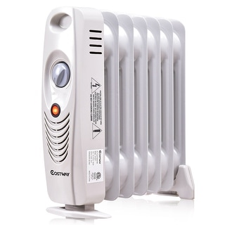 Costway 700 W Portable Mini Electric Oil Filled Radiator Heater 7-Fin