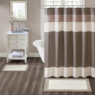 Madison Park Eastridge Taupe Cotton Bath Rug