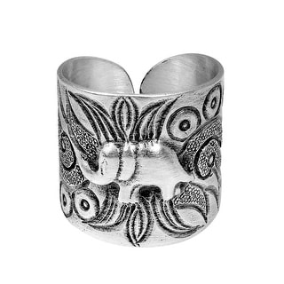 Handmade Sterling Silver Karen Hill Tribe Jungle Elephant Ring (Thailand)