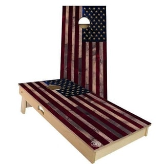 American Flag Vintage Cornhole Set - Choose Your Size & Accessories