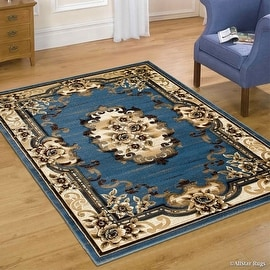 "AllStar Rugs Blue WovenHand Classic Persian Design Area Rug (7' 9"" x 10' 5"")"