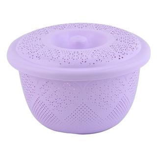 Household Plastic Fruit Vegetable Washing Colander Basket Container Light Purple