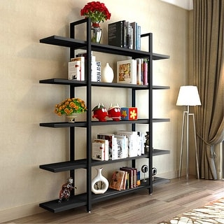 5-Tier Bookshelf Open Bookcase Display Shelf