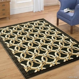"AllStar Rugs Fume Luxury Exotic Chenille Base Woven Contemporary Modern Area Rug (7' 9"" x 10' 5"")"