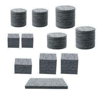 Felt Furniture Pads Self Adhesive Anti-scratch Floor Table Protector Grey 58pcs