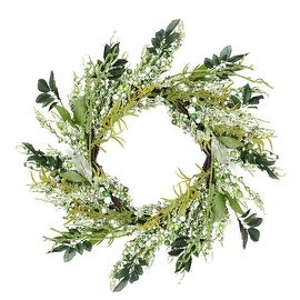 "12"" Green and Brown Decorative Mixed Berry Artificial Spring Floral Twig Wreath - Unlit"