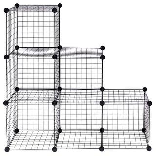 Costway 6 Cube Grid Wire Organizer Wardrobe Shelves Bookcase DIY