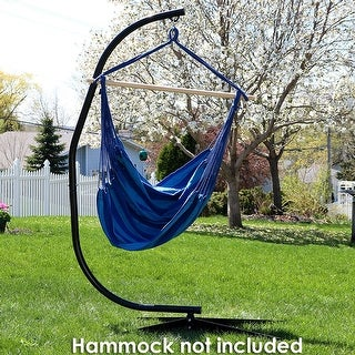 Sunnydaze Durable C-Stand for Hanging Hammock Chairs Black Powder-Coated Steel