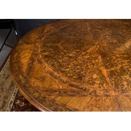 """Bellissimo Round/Oval Dining Table with one 24"""" leaf"""