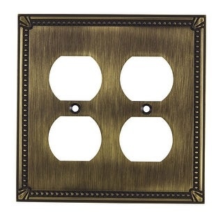 Richelieu BP8622 Double Traditional Duplex Outlet Switch Plate from