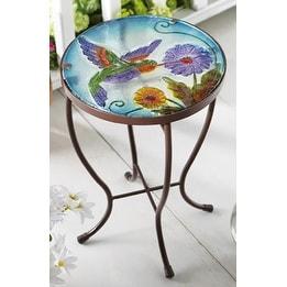 Hummingbird Garden Patio Accent Table