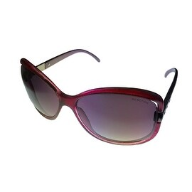 Kenneth Cole Reaction Womens Plastic Sunglass Violet / Gradient Lens KC1185 83B