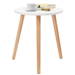 Costway Modern Round Coffee Tea Side Sofa Table Living Room Furniture