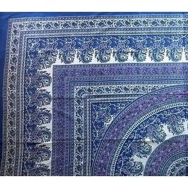 Handmade Cotton Paisley Mandala Tapestry Tablecloth Bedspread Beach Sheet Dorm Decor in Twin single 64x88 and Full Double 87x90