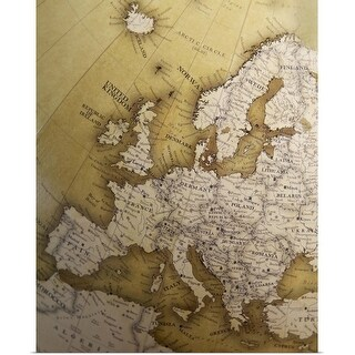 """""""Antique map of Europe, Old World"""" Poster Print"""