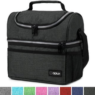 OPUX Insulated Dual Compartment Lunch Bag for Men, Women
