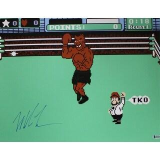 Mike Tyson Autographed Boxing Punchout 16x20 Photo BAS - Black - 5' x 8'