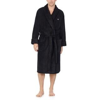 Tommy Bahama Men's Soft Plush Robe with Logo and Pockets