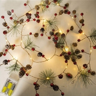 6ft 20 LED Party Garland for Home Garden Christmas Tree Décor