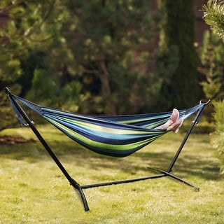 Double Hammock with Heavy Duty Freestanding Stand with Carrying Bag