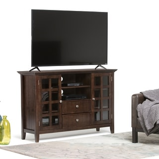 WYNDENHALL Normandy SOLID WOOD 53 inch Wide Rustic TV Media Stand For TVs up to 55 inches