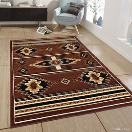 """Allstar Dark Brown Woven High Quality Rug. Traditional. Persian. Flower. Western. Design Area Rugs (7' 7"""" x 10' 6"""")"""