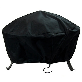 Sunnydaze Durable Weather-Resistant Round Fire Pit Cover - Black - 36-Inch - 36 x 12 Inch