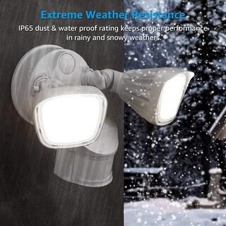 Dual-Head Outdoor Security Light, Motion & Photo Sensor, 5000K Daylight
