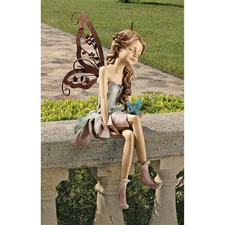 Design Toscano Fannie, the Fairy Sitting Statue