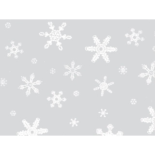"""Pack of 100, Snowflakes 6 x 3.25 x 13.5"""" Cello Bags 1.2 Mil for Christmas & Holiday, for Gift Baskets, Candy, Nuts or Items"""