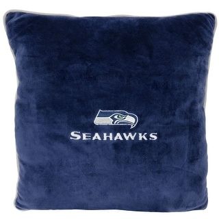 NFL Seattle Seahawks Licensed Pillow. Comfortable, Soft-Plush Top-Quality for Pets, Kids, Sofa