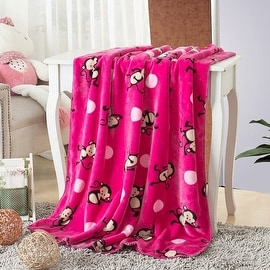 Animal Design Printed Double Sides Thick Animal Gold Mink Fleece Super Soft Baby Toddler Boys Girls Children Blanket Throw