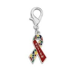 Autism Awareness Ribbon Hanging Charm
