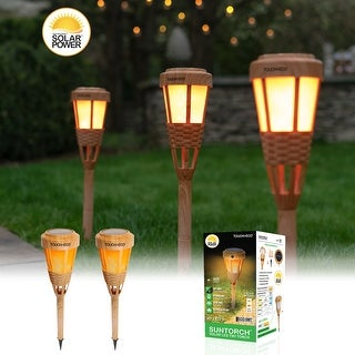 Solar LED Tiki Torch Light - Set of 2, 4 or 6
