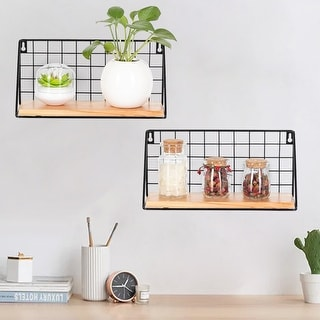 Floating Shelves Wall Mounted Set of 2 for Bedroom, Living Room