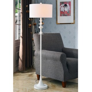 Campeau Gloss White Floor Lamp
