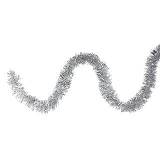 "50' x 2.25"" Silver Tinsel Artificial Christmas Garland - Unlit"