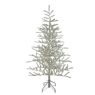 5' Champagne Tinsel Artificial Christmas Twig Tree - Unlit - 5 Foot