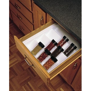 Rev-A-Shelf ST-2-52 ST2 Series Trimmable Individual Spice Drawer - Glossy White