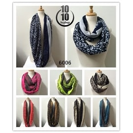 Women's fashion lightweight infinity scarf loops 12-pack