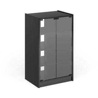 Porch & Den Haysboro 21-inch Midnight Black Wood Component Stand
