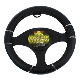Simoniz Deluxe Steering Wheel Cover Triple Grip, Black