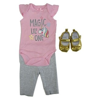 Weeplay Baby Girls Pink Magic Lil' One Bodysuit Pants Shoes Outfit