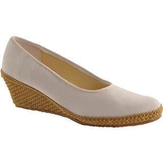 Beacon Shoes Women's Newport White Canvas