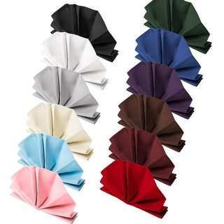 "12-Pack 20"" Large Polyester Cloth Table Napkins by Mill & Thread"